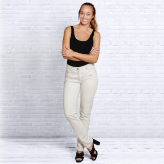 Organic cotton Jeans Women, Natural White