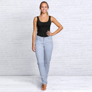 Organic cotton Jeans Women, Light Blue
