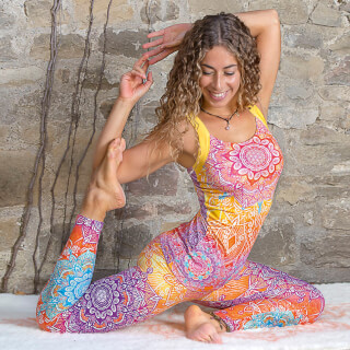Yoga Top Bamboo, Rainbow