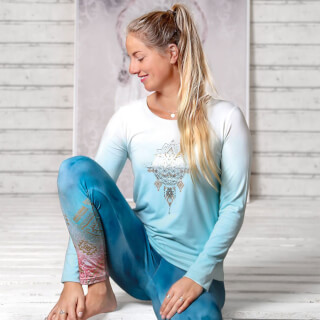 "Langarm Yoga-Shirt ""Shakti"", Blue-Breeze"
