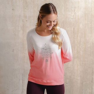 "Langarm Yoga-Shirt ""Shakti"", Flamingo"