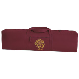 "Yoga bag ""Seed of Life"", bordeaux"