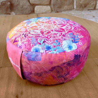 Meditation Cushion Round, Pink-Varicoloured