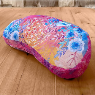 Meditation Cushion Half Moon, Pink-Varicoloured