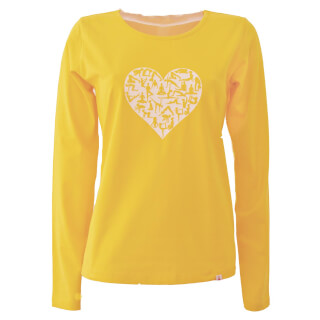 Long sleeve shirt Subha Yoga-Heart, sunny yellow