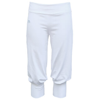 Gayatri Ladies Yoga pants, knee-long, white