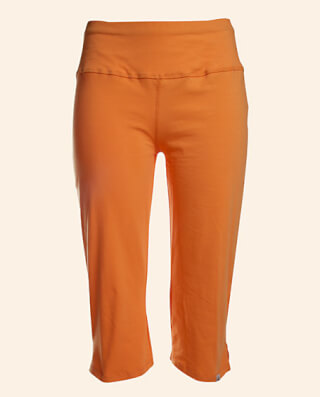 Gopi Yogahose 3/4-lang Women, Sunset-Orange