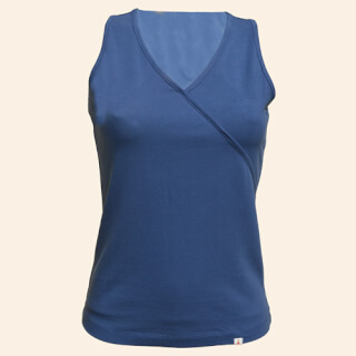 Ambali Yoga Wrap-Shirt, Indigo Blue