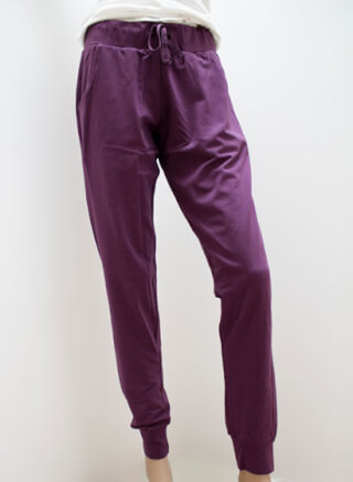 Dharani Cosy Pant Yoga Trousers, Plum (violet)