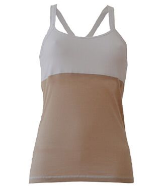 Shakti Workout Shirt, blanc/sable