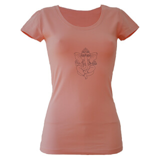 Ganapati Yoga T-Shirt, Rose