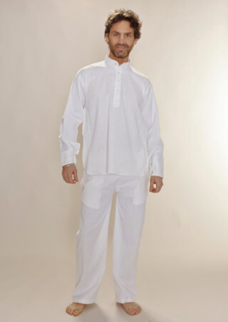 Yoga Dress NANKANA, 100 % cotton white