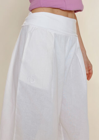 Yoga trousers - Harem trousers JALANDAR Ladies, White