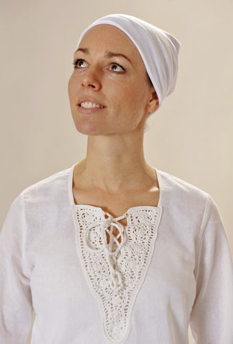 Tunika Yoga Shirt AMRITSAR f�r Damen, Weiss