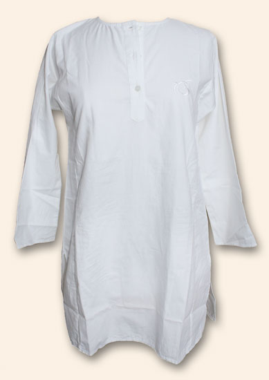 Kurta-Longshirt Laucknawy for Ladies, White