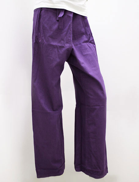 Thai trousers Aubergine