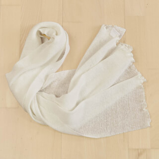 "Linen Shawl ""Chiara"", cream white"