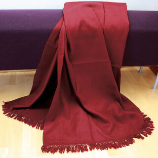 Meditation Shawl Kashmiri, wine red
