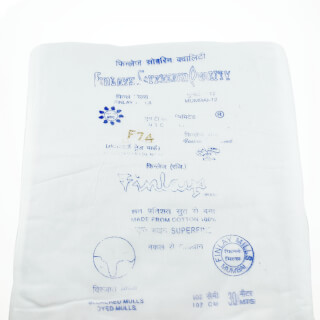 Turban cloth Mul Mul White, 1 meter