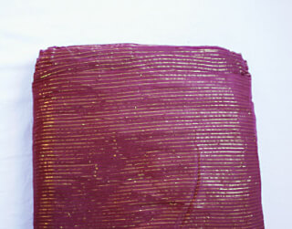 Turbanstoff Golden Stripes, Bordeaux, 1 Meter