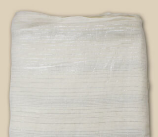 Turbanstoff Silver Stripes, Off-White, 1 Meter