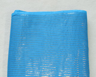 Turban cloth Silver Stripes, Sky Blue, 1 meter