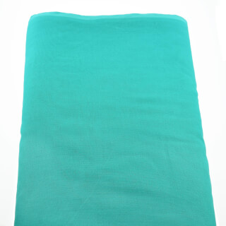 Turban cloth Voile, Turquoise, 1 meter