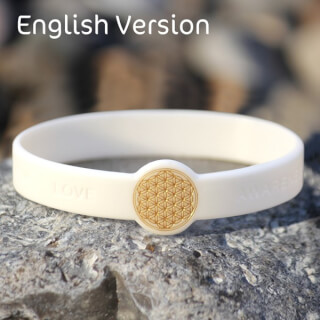 Mindlet Flower of Life bracelet, white (English)