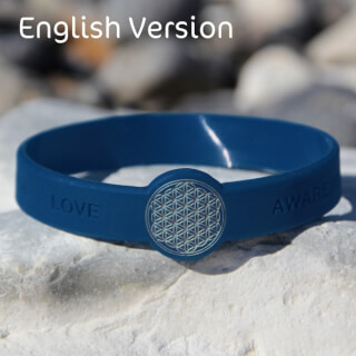 Mindlet Flower of Life bracelet, indigo (English)