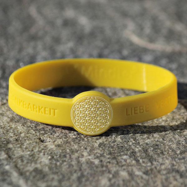 mindlet blume des lebens armband gelb. Black Bedroom Furniture Sets. Home Design Ideas
