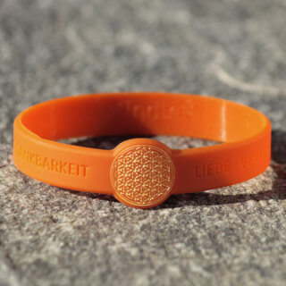 Mindlet Flower of Life bracelet, orange