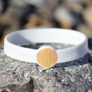 Mindlet Flower of Life bracelet, white (German)