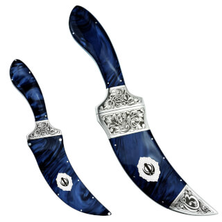 Kirpan Kirinite™ Midnight Blue, raccords gravés