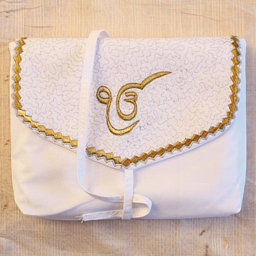 NitNem Pouch, Weiss-Gold