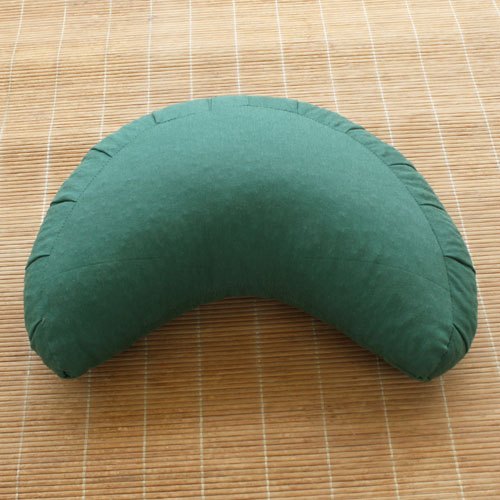 Moon Meditation cushion, Dark Green