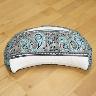 Meditation Cushion Baghi Moon, Turquoise-Gray