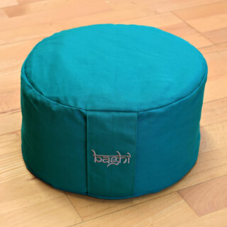Meditation Cushion Baghi Round Basic, Petrol