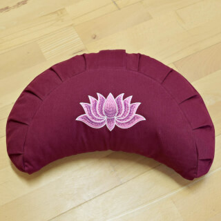 Meditation Cushion Baghi Moon Lotus, Bordeaux