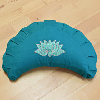 Meditation Cushion Baghi Moon Lotus, Petrol