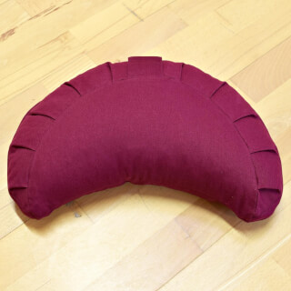 Meditation Cushion Baghi Half Moon Basic, Bordeaux