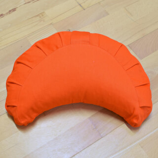 Meditationskissen Baghi Halbmond Basic, Orange