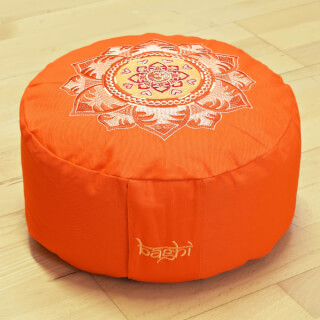 Meditationskissen Baghi Rund OM-Mandala, Orange