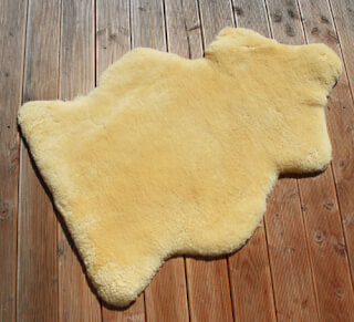 Sheepskin Large, sheared, ca. 100 cm
