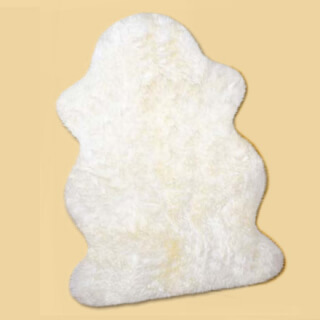 Sheepskin longhair, natural white, approx. 100 cm