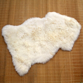 Sheepskin longhair beige, approx. 120 cm long