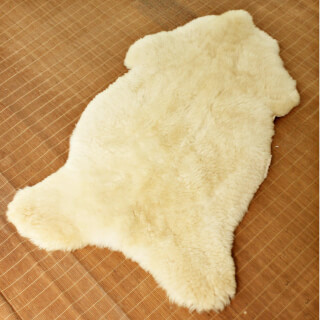 Sheepskin XL, natural white, 120 - 130 cm