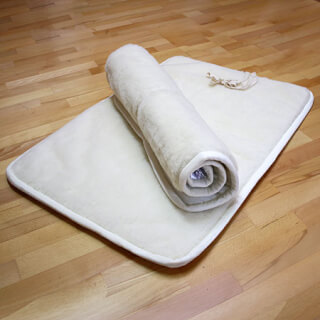 Tapis de yoga naturel, court, anti-glissant, 70 x 100 cm