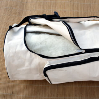 Yogabag Sat Nam, natural canvas 70 cm, off-white