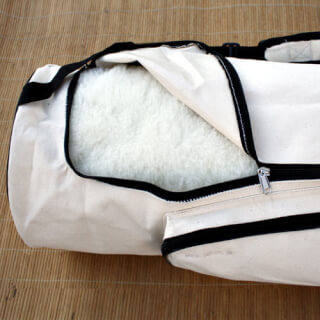 Yogabag Sat Nam, natural canvas 90 cm, off-white