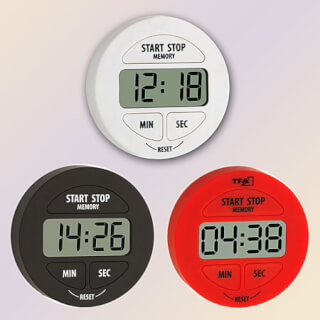 Yoga Timer & Stopwatch digital, round